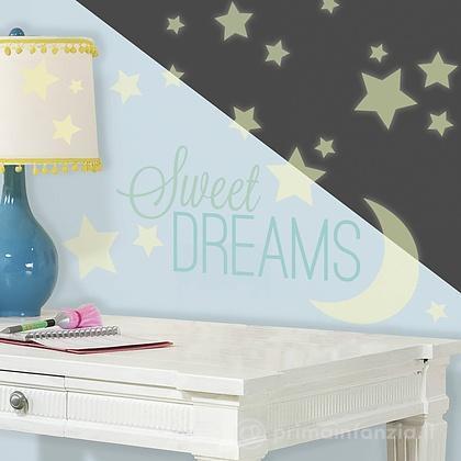 Adesivi murali rimovibili Sweet Dreams Glow in Dark