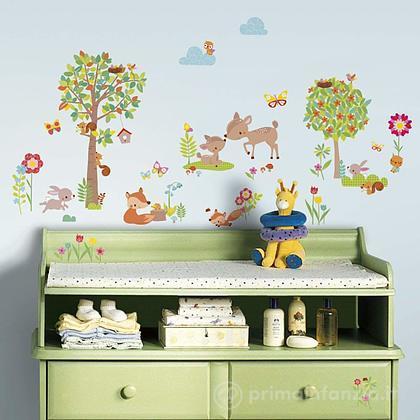 Adesivi murali rimovibili Woodland Creatures