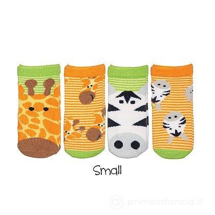 Set 4 paia Calzini Safari Giraffa e Zebra Bambino