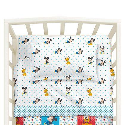 Completo Lenzuola Lettino Mickey Patch