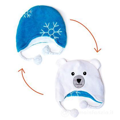 Cappello Fiocco di Neve/Orso Polare 6m-3 anni