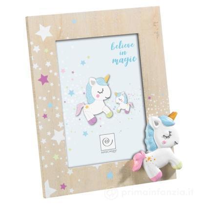 Cornice Portafoto in Legno Unicorno Blu 13 x 18 cm