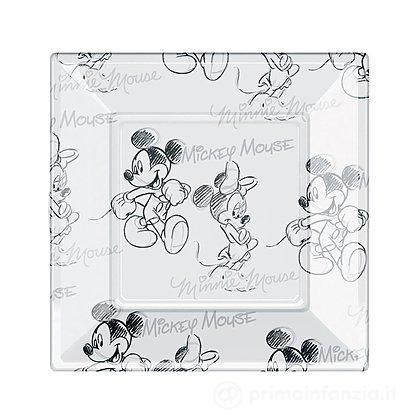 8 Piatti di plastica Mickey e Minnie