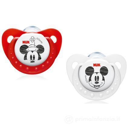 2 Succhietti Disney Mickey silicone misura 1