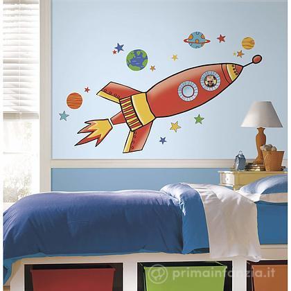 Adesivi murali rimovibili Rocket Giant