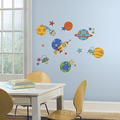 Adesivi murali rimovibili Planets and Rockets