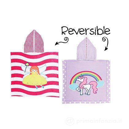 Accappatoio Poncho Reversibile Unicorno