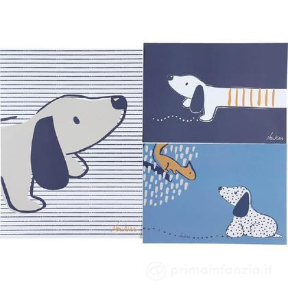 3 Poster cagnolino Aston & Jack