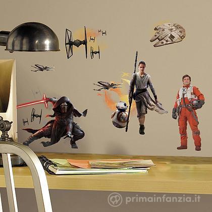 Adesivi murali rimovibili The Force Awakens Ensemble Cast