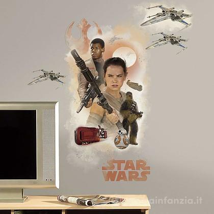 Adesivi murali rimovibili The Force Awakens Hero Giant