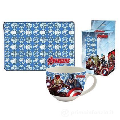 Set tovaglietta e tazza Avengers