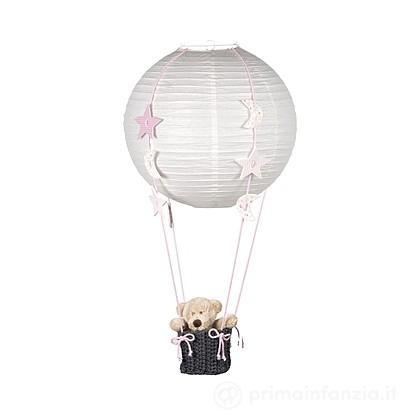 Lampada mongolfiera Orso con striscione