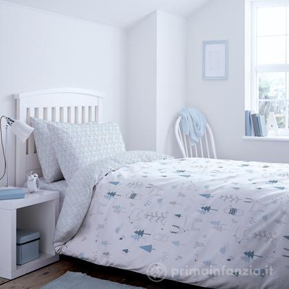 Parure copripiumino azzurro 160x200 Kids Nordic Blue
