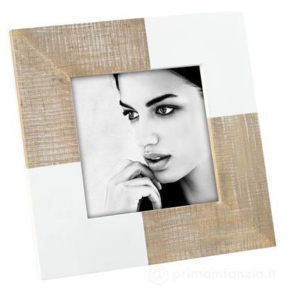 Cornice Portafoto in Legno Bianco 10x10 cm