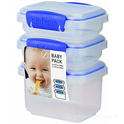 3 Contenitori ermetici Baby Pack