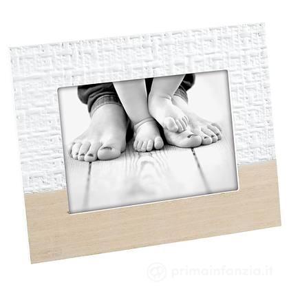 Cornice Portafoto in Legno Bianco 10x15 cm