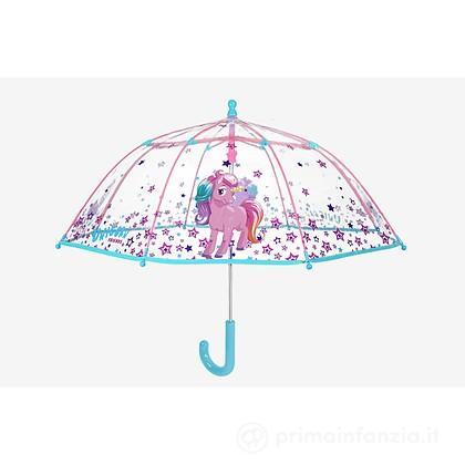 Ombrello manuale trasparente Unicorno
