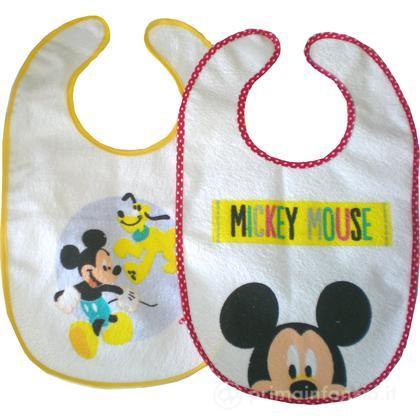 2 Bavaglini Mickey chiusura con velcro
