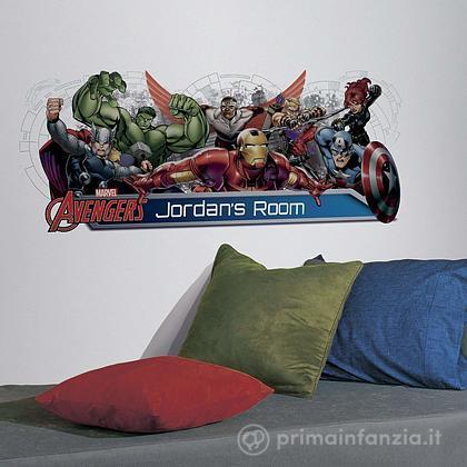 Adesivi murali rimovibili Avengers Assemble Personalization