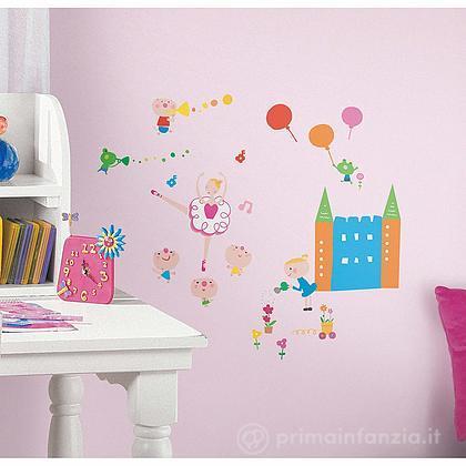 Adesivi murali rimovibili Lazoo Girl