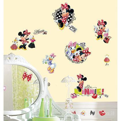 Adesivi murali rimovibili Minnie Loves to Shop