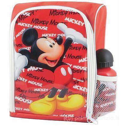 Zainetto Asilo con borraccia Mickey Mouse