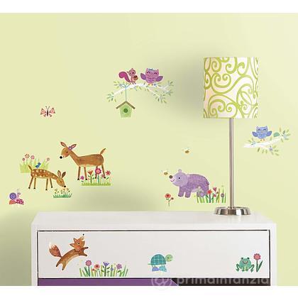Adesivi murali rimovibili Woodland Baby