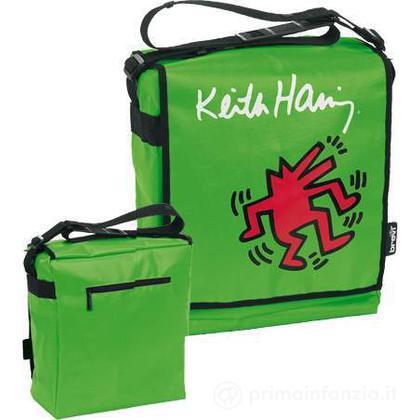 Borsa fasciatoio green Keith Haring