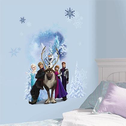Adesivi murali rimovibili Frozen Character Winter Burst