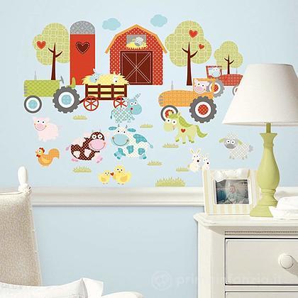 Adesivi murali rimovibili Happi Barnyard