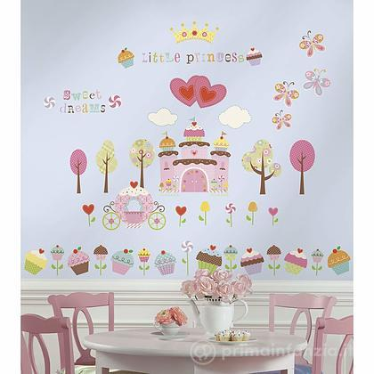 Adesivi murali rimovibili Happi Cupcake Land