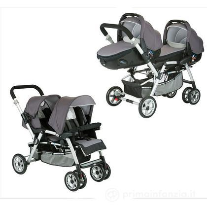 Passeggino gemellare Twin Two con ovetti Matrix