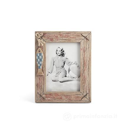 Porta foto in legno pesce Egeo 13 x 18 cm