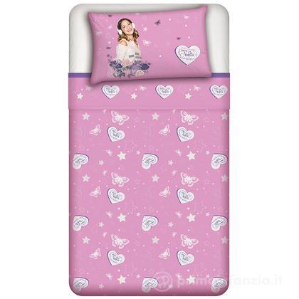 Parure lenzuolo Disney Violetta Rose