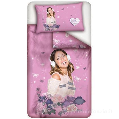 Parure copripiumino Disney Violetta Rose
