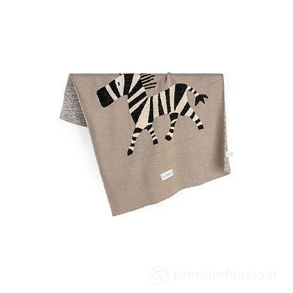 Coperta Zebra 80 x 100 cm in Cotone Bio
