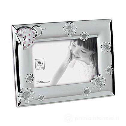Cornice Portafoto 10 x 15 cm con cristalli Swarovski Rosa