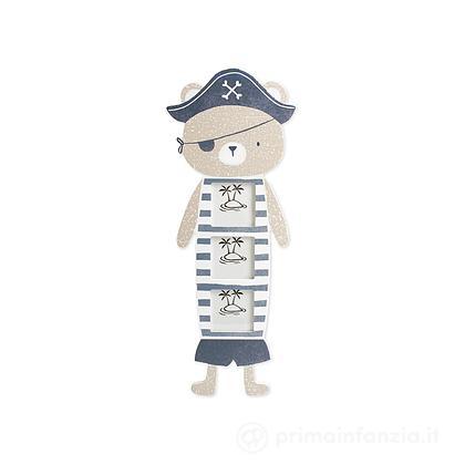 Porta foto in legno Pirata 3 posti 6 x 5,5 cm