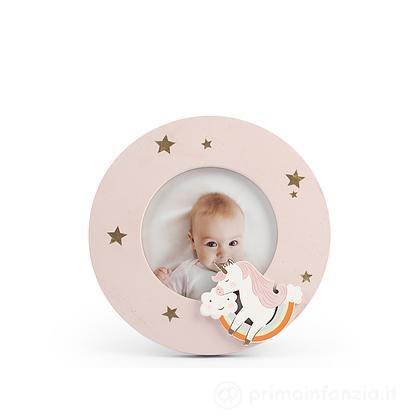Porta foto in legno Unicorno 10 x 10 cm