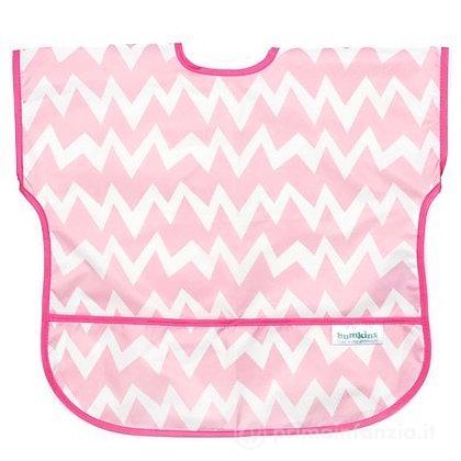 Grembiulino con maniche corte 1-3 anni Pink