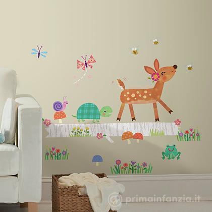 Adesivi murali rimovibili Woodland Baby Big