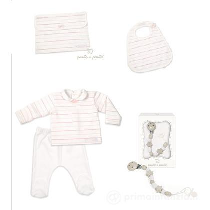 Set primi abiti rosa 6 mesi