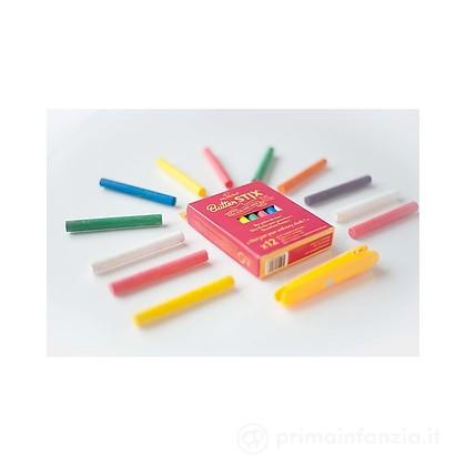 Gessetti Zero Polvere Multicolor 12pz con Portagessetti