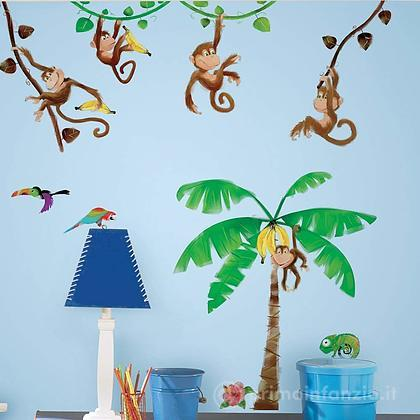 Adesivi murali rimovibili Monkey Business