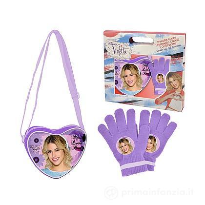 Set tracolla e guanti Violetta