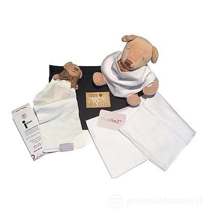 Trousse con borsa antibatterica - bavaglino - copertina