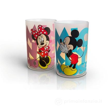 Lampada candelina LED Mickey e Minnie 2pz