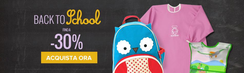 Back to School: sconti fino a -30%!