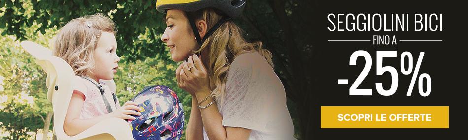 Seggiolini Bici: fino a - 25%